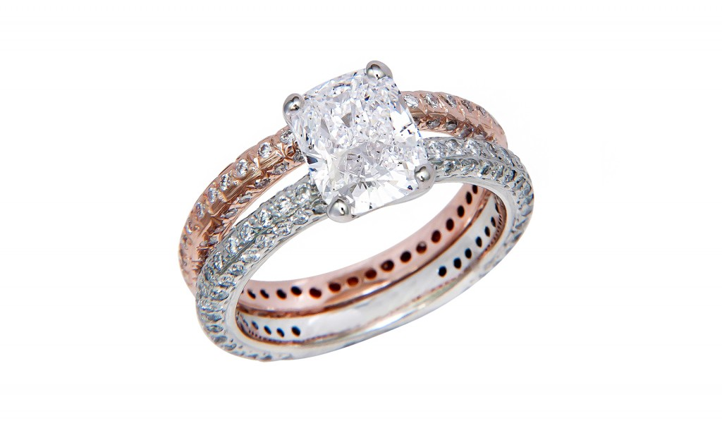 How do engagement rings and wedding bands work jewelry ideas for Work wedding rings